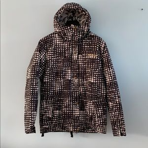 BILLABONG polka dots winter/ski/snowboard jacket